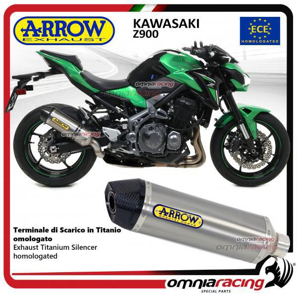 Arrow Exhaust Race-Tech Titanium silencer homologated for Kawasaki Z900  2017>