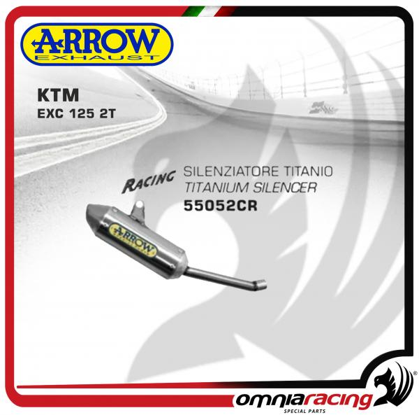 Arrow Exhaust Mini Thunder Titanium Silencer For KTM 125 EXC 2T 2008>2012