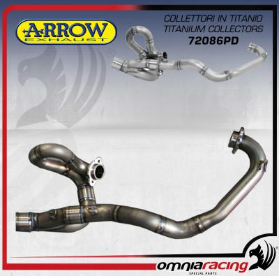 Arrow Titanium 2in1 Racing Manifold Kit for Aprilia SX-V 4 5 / 5 5 (SXV  450/550) 2007 07>