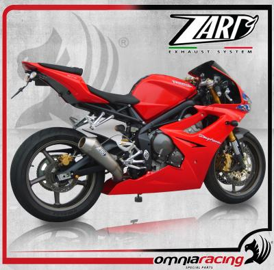 Zard conical steel lateral omologato full exhaust system for Triumph Daytona 675 2006 06>08