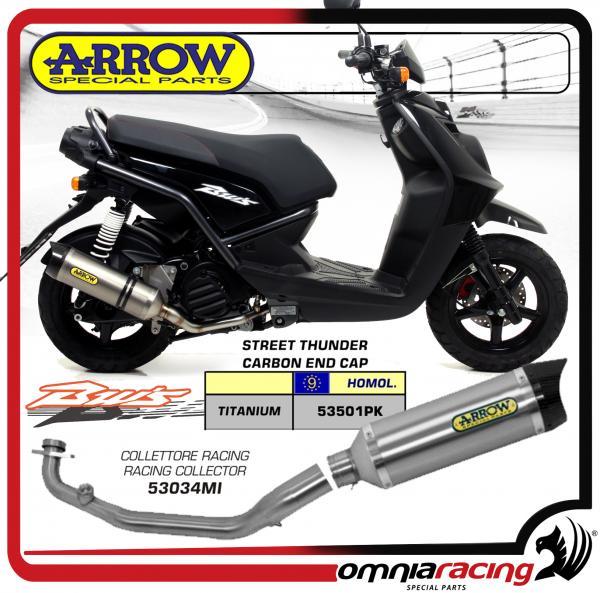 Arrow Thunder Titanium Carby Cap for Yamaha BW's 125 2010>2013 Steel Full  Exhaust System