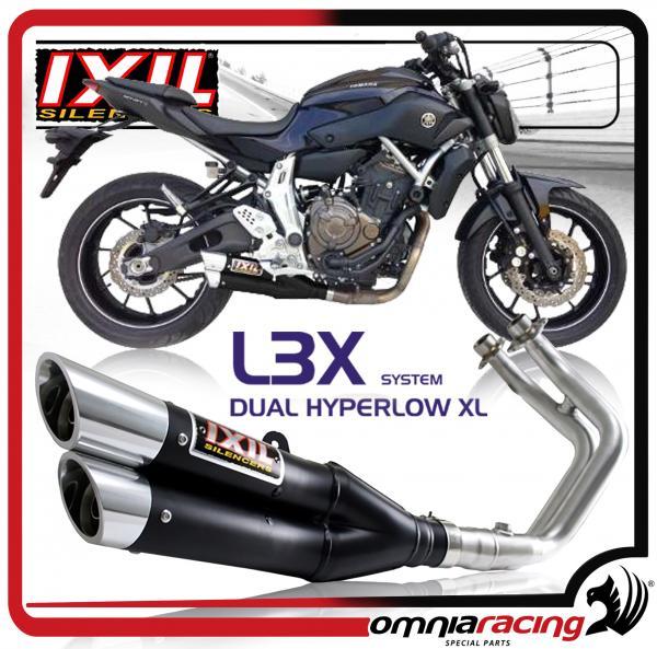 Ixil L3X Dual Hyperlow Black for Yamaha MT-07 / FZ-07 2014 14> Slip On  Exhaust System