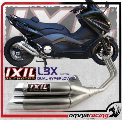 Ixil L3X Dual Hyperlow - Yamaha T Max 500 / 530 2008 > 2012 Racing Full  Exhaust System XY2396X
