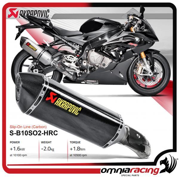 Akrapovic Slip On Carbonio For Bmw S1000rr 2015 15 Homologated
