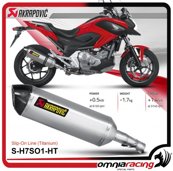 Akrapovic Slip On Titanium For Honda Nc750x Nc750s 2014 14