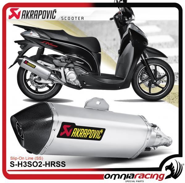 Akrapovic Slip On Steel Honda Sh300i 2007 071115 Hoamologated