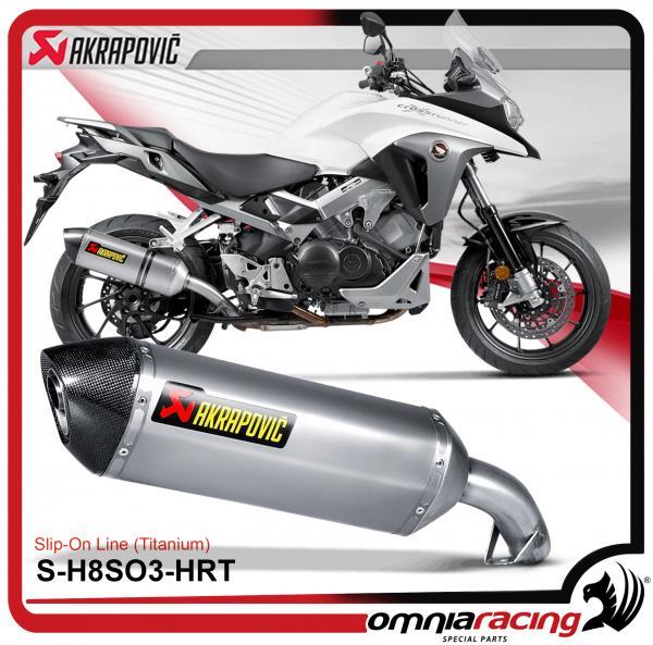 Akrapovic Slip On Titanium For Honda Vfr800x Vfr800f Crossrunner