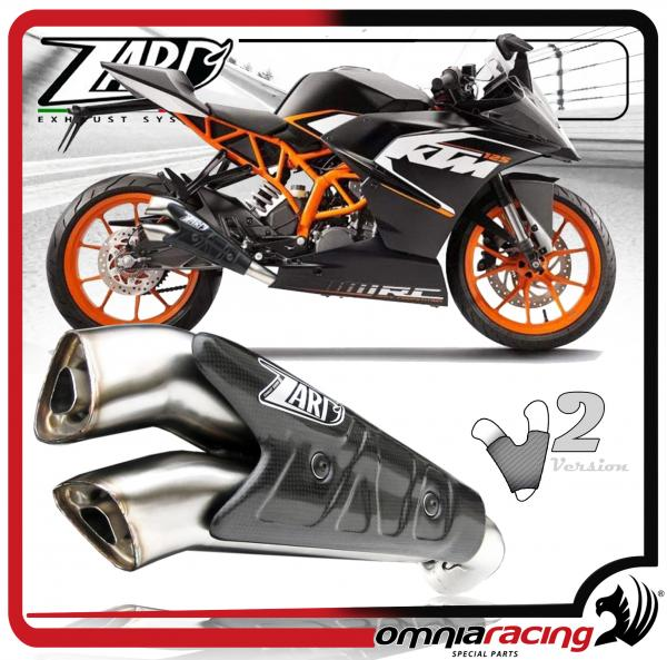 Zard V2 Inox Racing Kit per KTM RC 125 / 200 2014 14> Terminale di Scarico Slip On