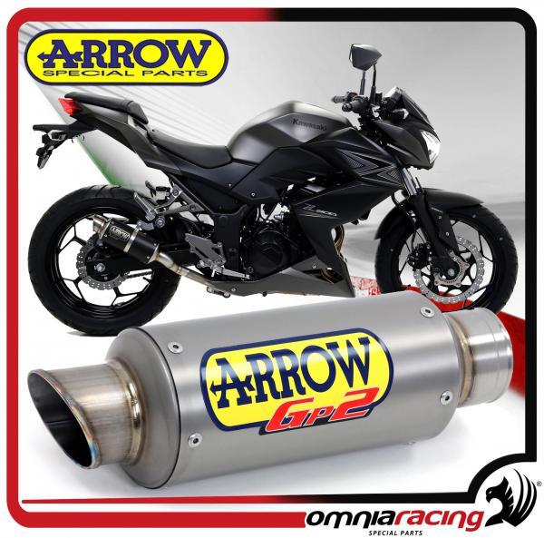 Arrow Gp2 Titanium For Kawasaki Z300 2015 15 Non Homologated Slip On Exhaust