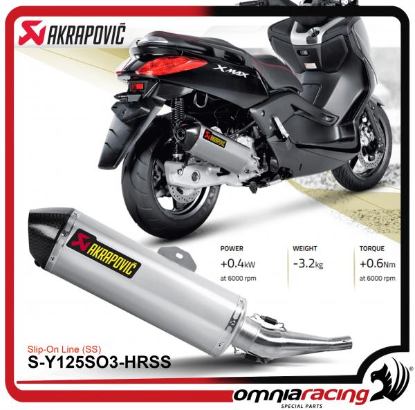 מצטיין Akrapovic Slip On Steel for Yamaha X-max 125 X-city 125 2008 08 15 MT-29