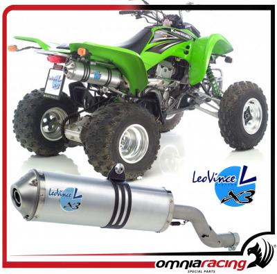 Leovince X3 ATV/Quad Legal Slip-on Exhaust for Suzuki LTZ 400 2003 03>04