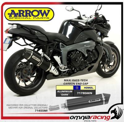 Arrow Maxi Race Tech Dark Carby Slip On Exhaust For Bmw K1300r