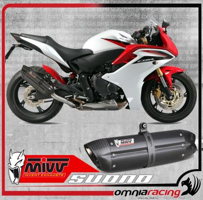 Mivv Suono Steel Black - Slip On Exhaust System for Honda CB 600 Hornet ABS 2007 07>14