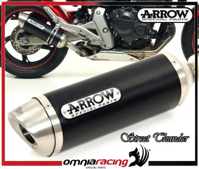 Arrow Dark Line E9 Homologated Exhaust For Honda Cb 600 F Hornet Abs