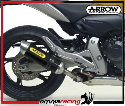 Arrow Thunder Carbon E9 Homologated Exhaust for Honda CB 600 F Hornet / ABS 2007 07>