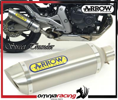 Arrow Thunder Titanium E9 Homologated Exhaust for Honda CB 600 F Hornet / ABS 2007>2011