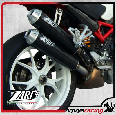 Zard Carbon Homologated Side Mount Slip On Exhausts For Ducati