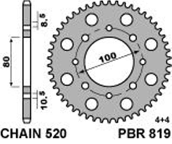 Vortex 151-49 Silver 49-Tooth Rear Sprocket