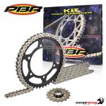 Complete final transmission kit sprockets chain PBR EK per Ducati Multistrada 950 2017>