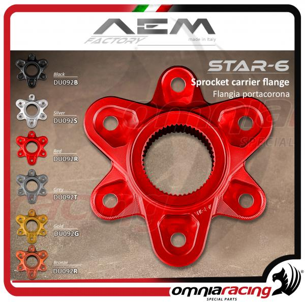 AEM Factory  flangia portacorona STAR-6 per Ducati Monster 1200 / 1199 - 1299 Panigale