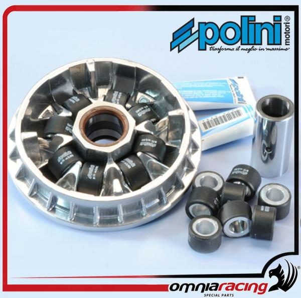 Polini 8 roller Variator PEUGEOT MP3 400-500 X8 400 X9 500 EVO 05> X10 500  4T 4V ie XEVO 400
