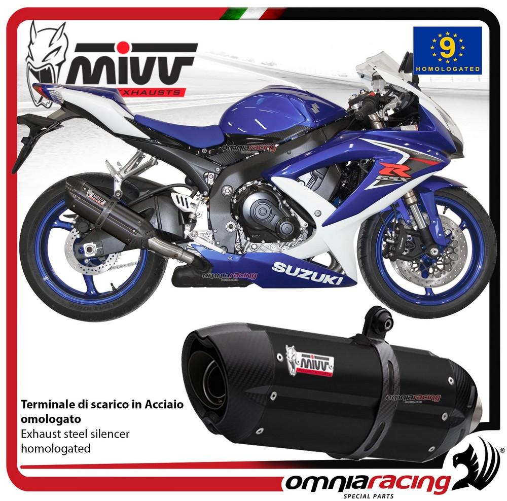Details about MIVV SUONO exhaust slip-on homologated black inox for SUZUKI  GSXR750 2008>2010