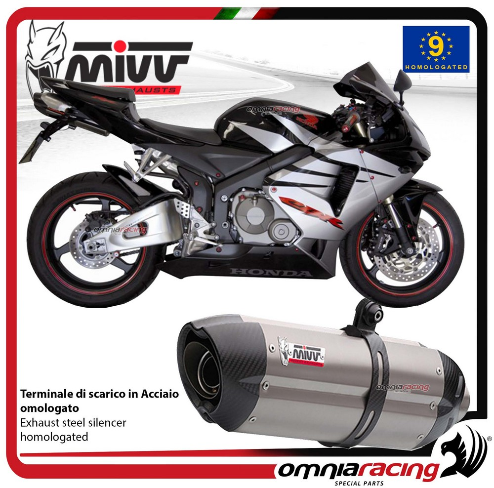 Details About Mivv Suono Exhaust Slip On Homologated Inox For Honda Cbr600rr 2005 2006