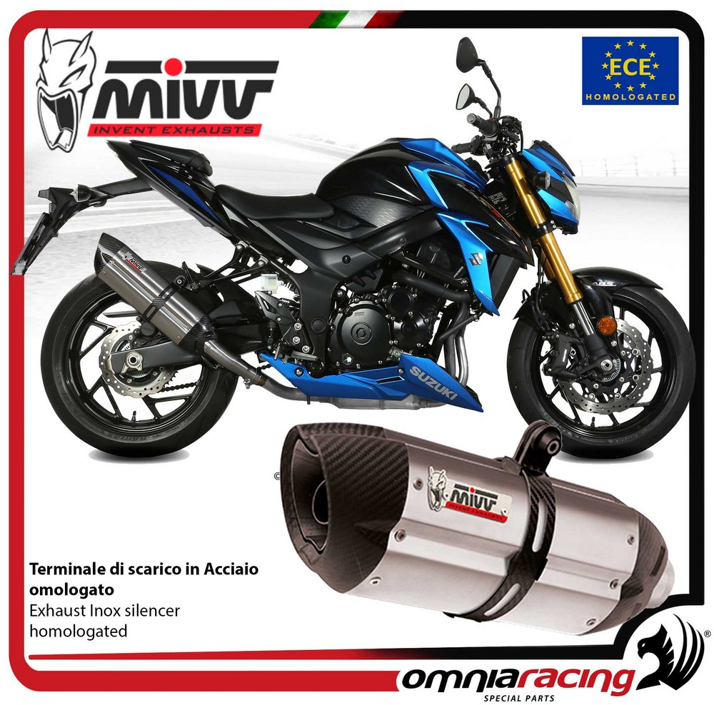 Mivv S.048.L2S SUZUKI GSX-S 750 2017  ECHAPPEMENT SLIP-ON GP CARBONE